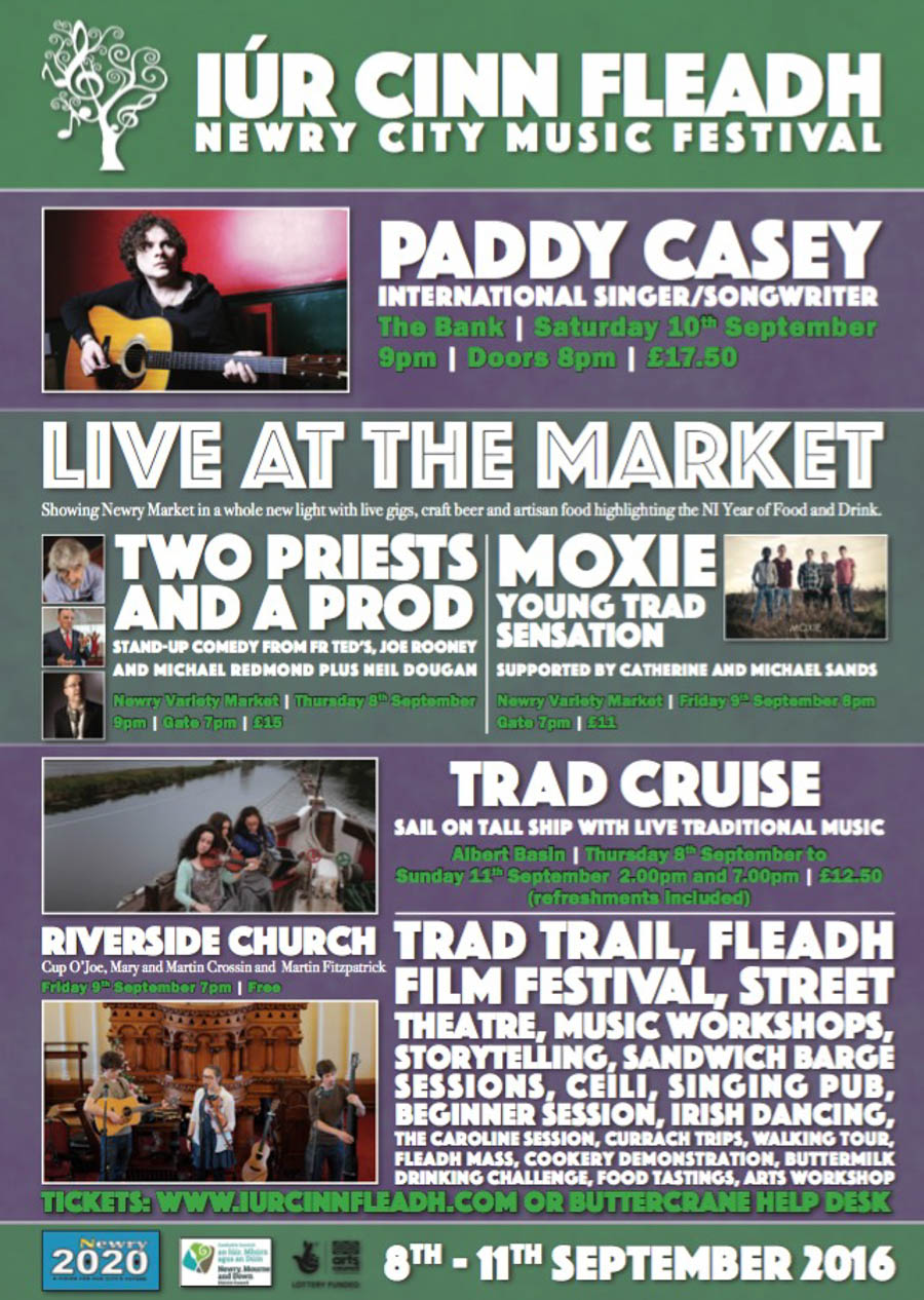 Iúr Cinn Fleadh Newry City Musical Festival from 8th - 11th September 2016