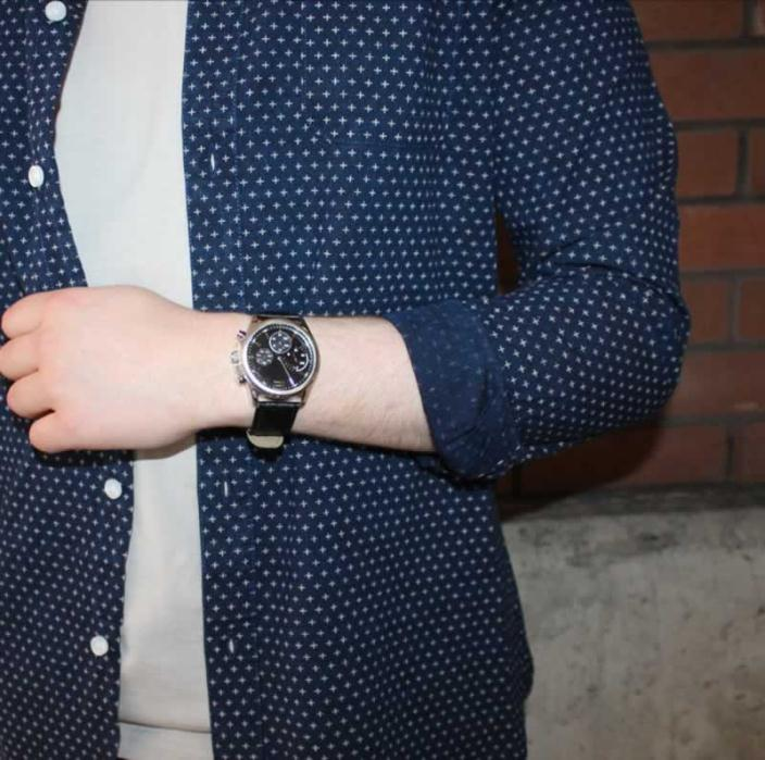 Burton watch £28 & navy shirt £28
