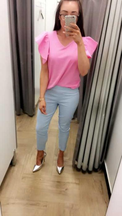 Dunnes Stores Pink Frill T-shirt £12