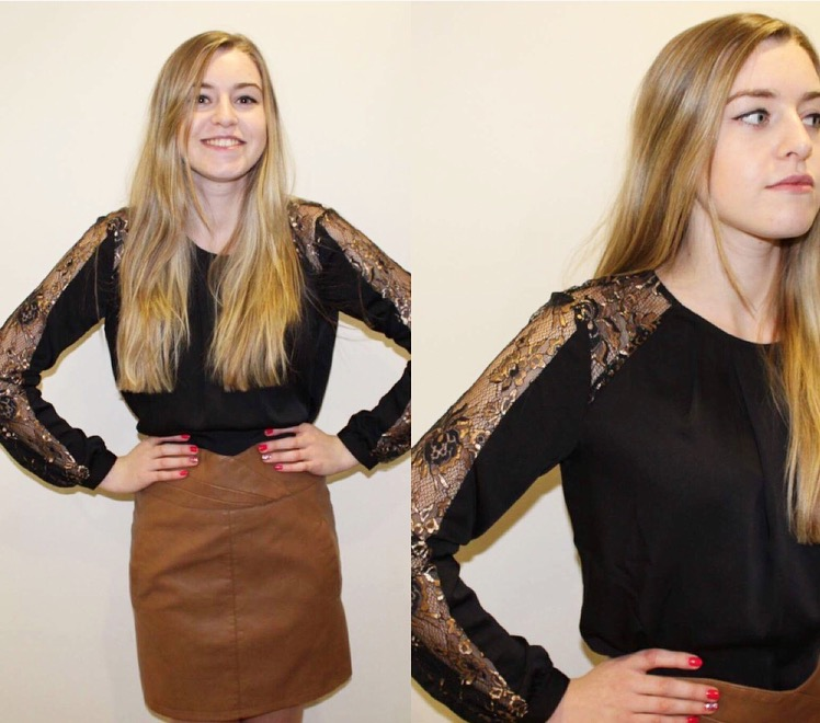 Black Top £38 and Leather effect Skirt £27 Vero Moda