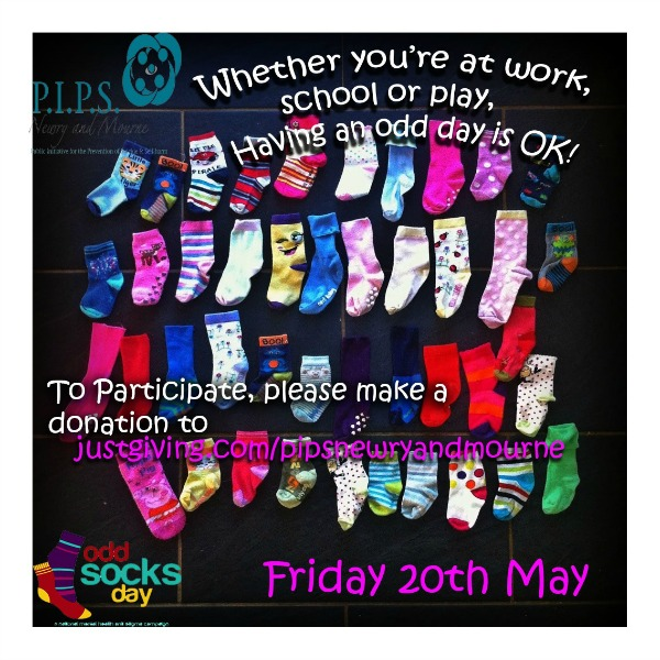 PIPS Newry & Mourne ODD SOCK DAY.