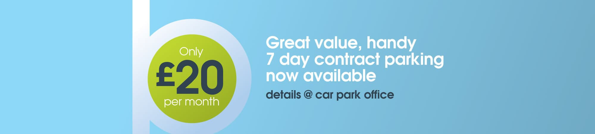 Parking Contract banner