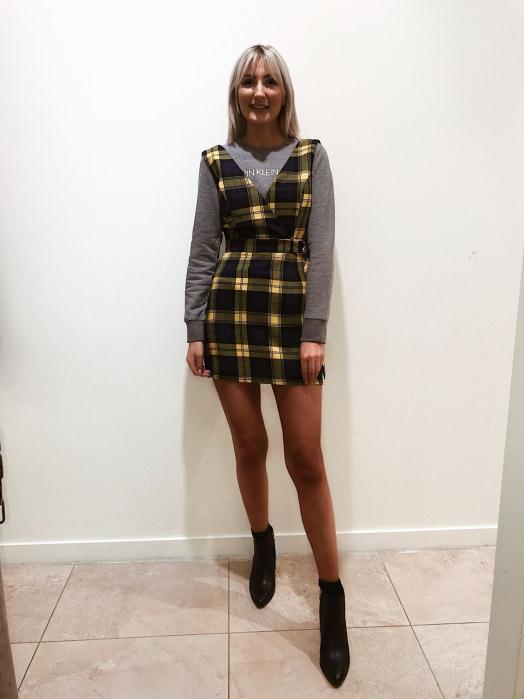 DV8 Pinafore Dress £22.99 + CK Sweatshirt £79.99