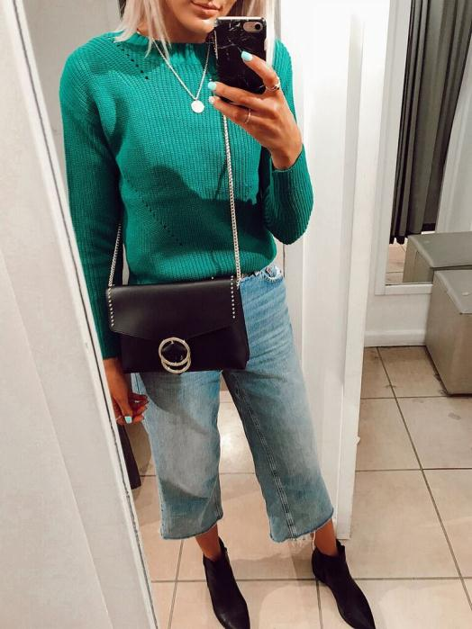 Dorothy Perkins Green Sweater £20 and Bag £18