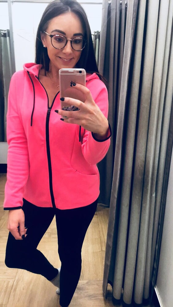 Dunnes Stores Pink Zip Though Top £17