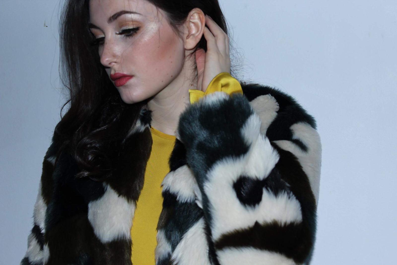 Faux Fur Jacket M&S £36