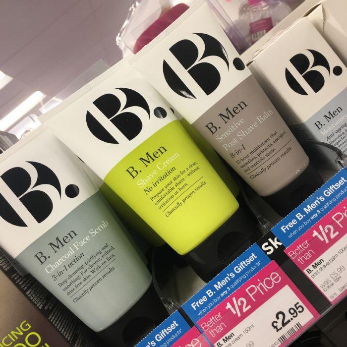 Superdrug B range for men, from £2.95