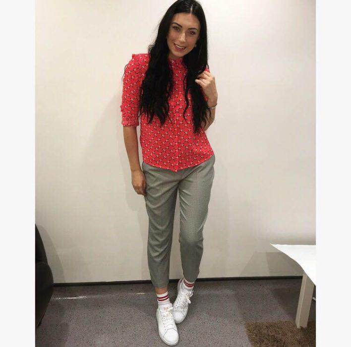 Red shirt £28, Trouser £18 Dorothy Perkins