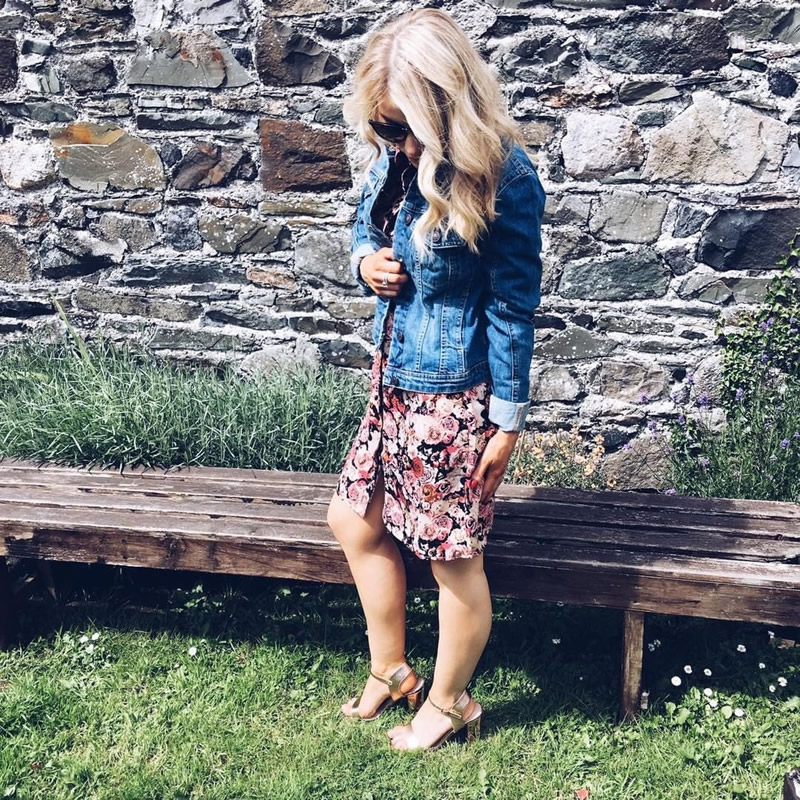 Vero Moda Floral Dress £32 Denim Jacket £26