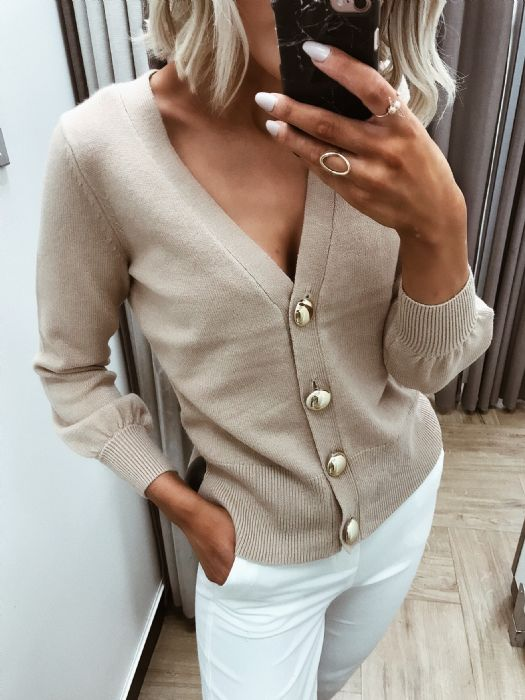 Dunnes Gold Button Cardi, £20