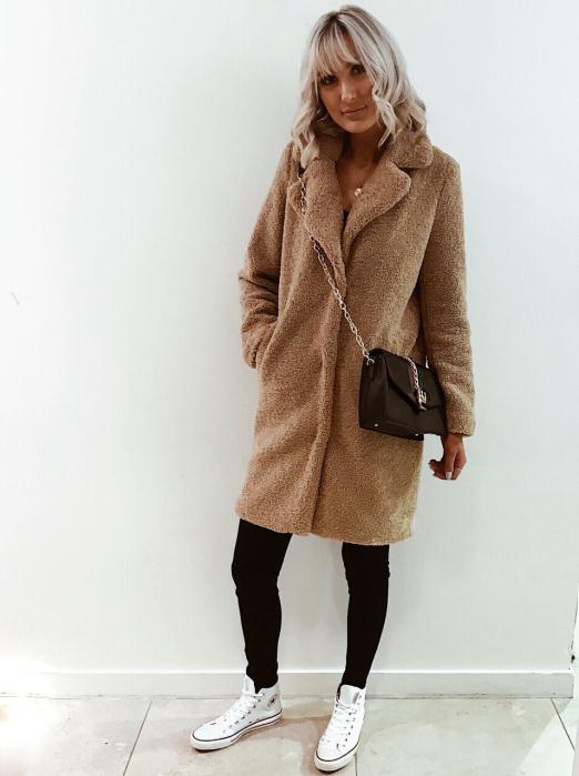 DV8 Brown Teddy Coat £79.99