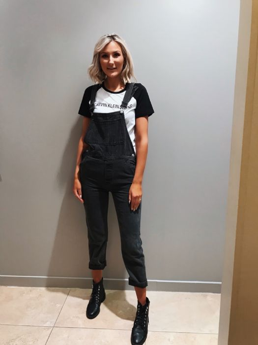 Calvin Klein Tshirt £44.99 with Denim Dungarees £37.99 from DV8 Fashion