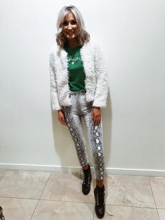 dv8 tee 1200 (on sale) jacket 2799 snake print jeans 2999 boots 3799