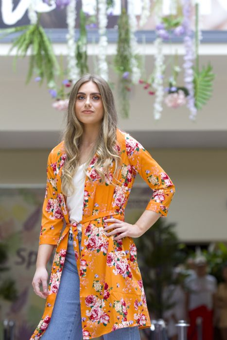Kimono, £28 and jeans £29.99 from DV8