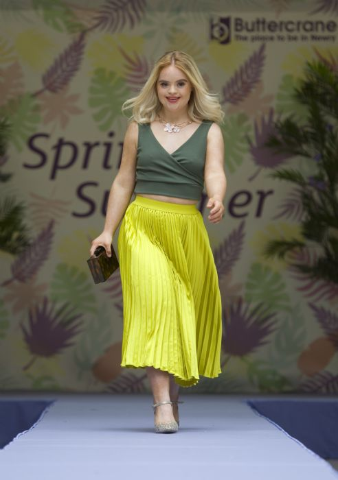 Kate Grant Model wearing DV8 Skirt £ 26.99 and top from Quiz, £14.99