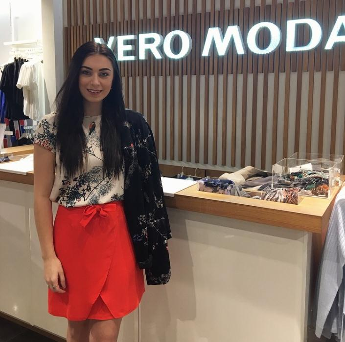 Vero Moda Orange skirt £30 & Floral Top £15