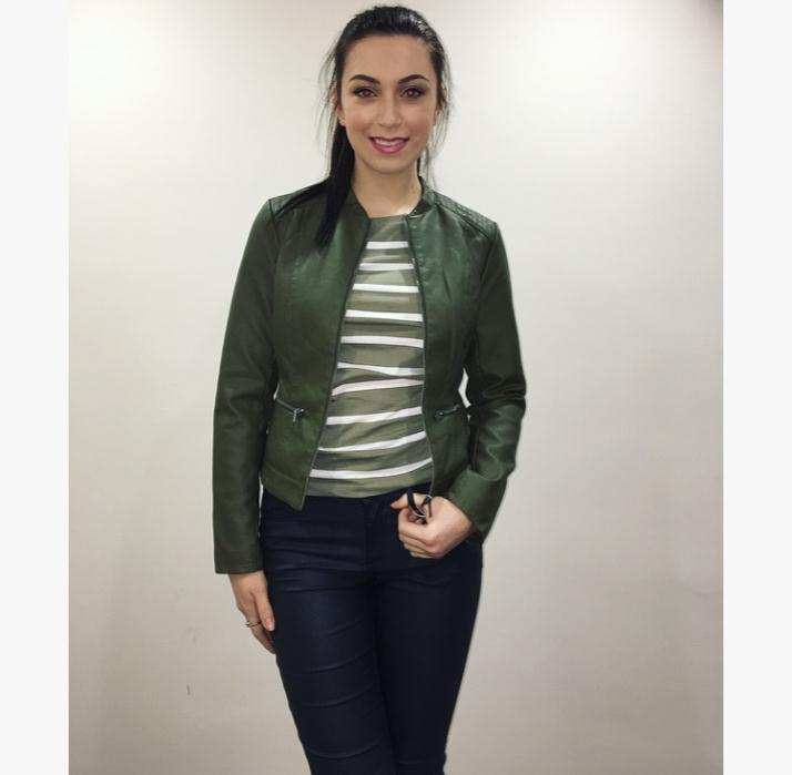 VILA Green Jacket £36 & Top £18