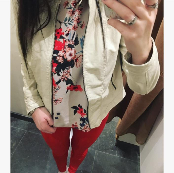 Vero Moda Cream Jacket £34 & Red Jeans £20