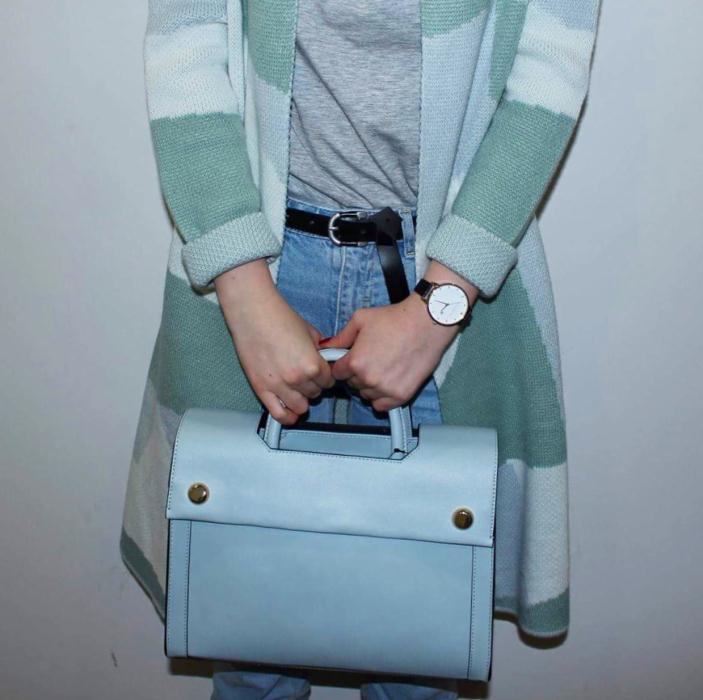 Vero Moda Long Cardigan £50, Bag M&S £39.50, Mom Jeans Primark £10