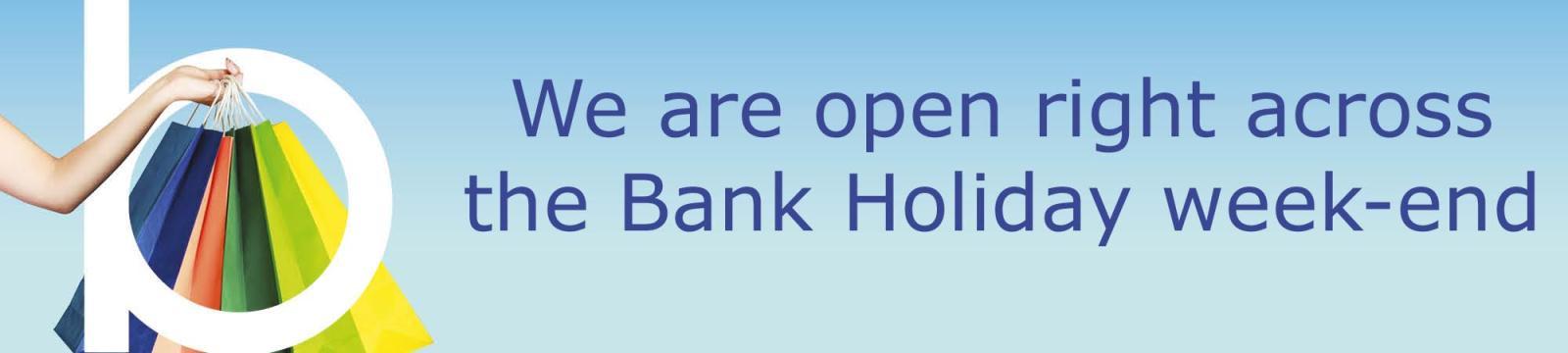 Open Bank Holiday Weekend 2018