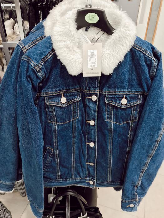 Primark Denim Shearling Jacket £25