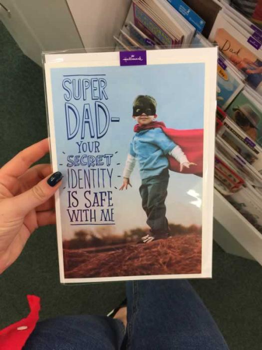 Superhero Father's Day card - Easons