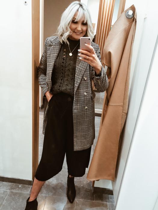 Vero Moda Checked Longline Coat