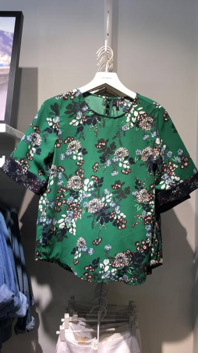 Vero Moda Green Floral Top